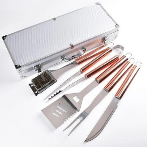 6 piece stainless steel outdoor nice grill tools set for fathers day