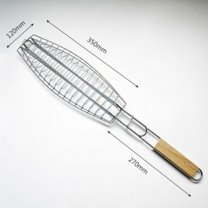 stainless steel non stick bbq fish grill basket