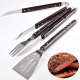 4 piece extra long heavy duty bbq grilling tool set china supplier