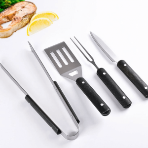 4 piece luxury wooden handle bbq grill tool set china supplier