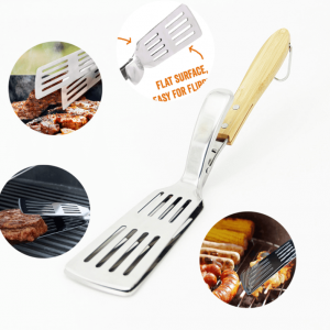 Unique 2 in 1 grill spatula, tong accessories for sale