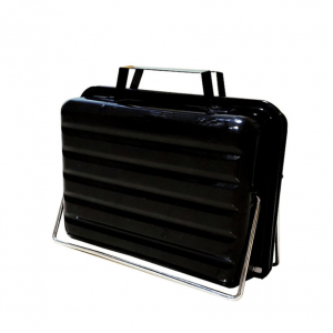 Small portable charcoal grill toolbox style manufacturer