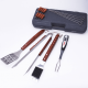 17 pieces outdoor barbecue grill tool set with case wholesaler