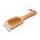 2 in1 heavy duty wood handle grill brush with scraper wholesaler