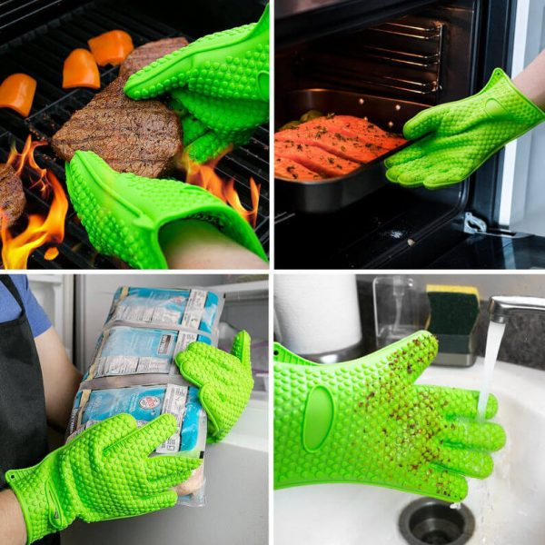 heat resistant bbq grill silicone gloves accessories manufacturer
